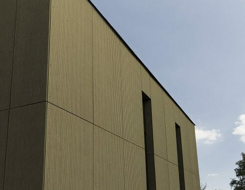 The building will be finished using an Equitone material providing a strong, durable and sharp finish.