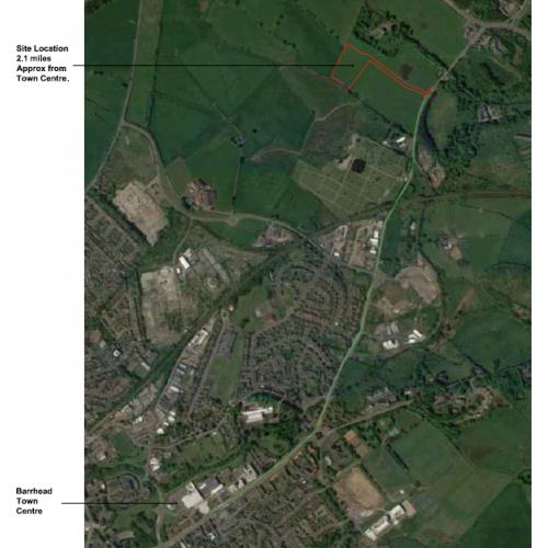 Hurlet Crematorium Aerial View